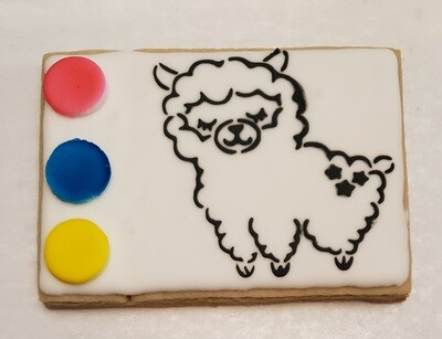Llama Paint Your Own Cookie