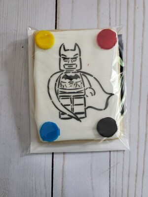 Superhero Paint Your Own Cookie