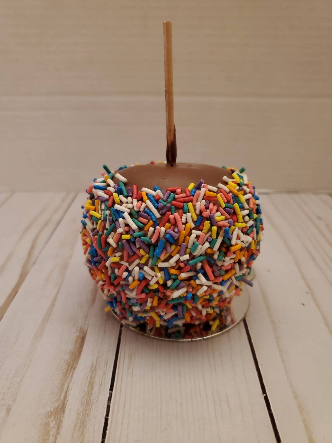 Sprinkle Caramel and Chocolate Covered Apple