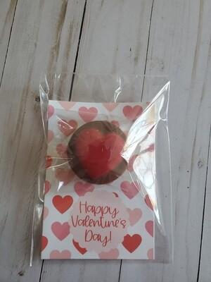 Happy Valentine's Day Chocolate Heart Oreo
