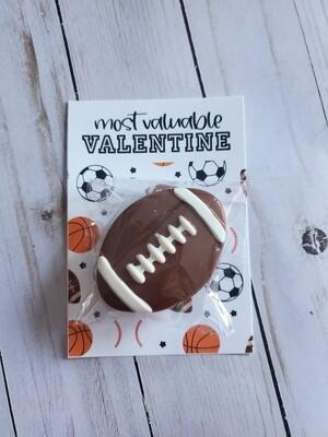Most Valuable Valentine Football Oreo
