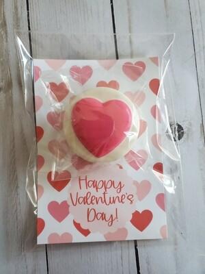 Happy Valentine's Day White Chocolate Heart Oreo