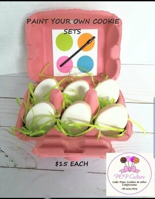 Paint Your Own Easter Eggs - Pink Carton
