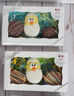 Easter Chick Double Stuffed Oreo - 3 piece gift set