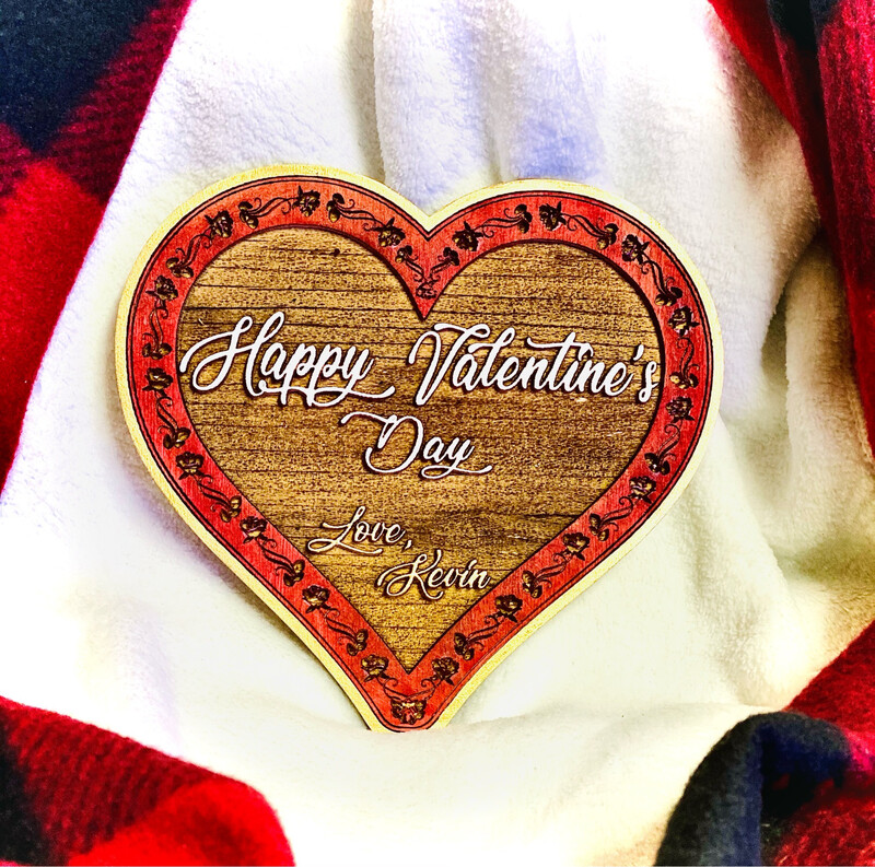 Personalized Valentine's Day Wooden Heart