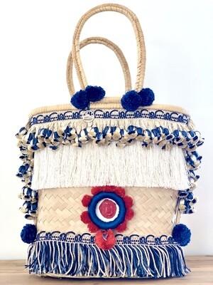 Gootchi Handbag/Silk Tassel & Neutral Fringe