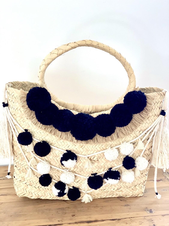 Pom-pom garland trim/Gootchi Handbag