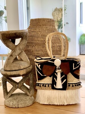 Boho Chic African Mud Cloth/Gootchi Handbag