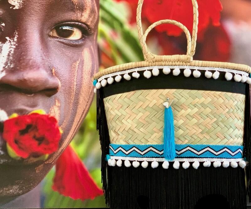 African Seed Bead/Gootchi Basket