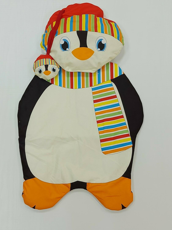 Матрасик с подушкой Пингвин