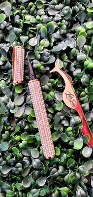 2 in1 Lashes Glue Pen & Tweezers Combo