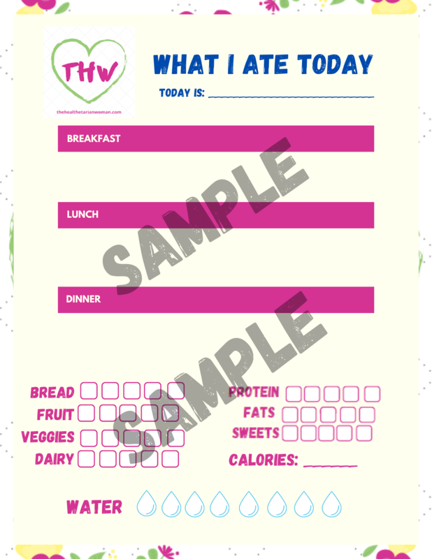 What I Ate Today Daily Food Diary & Tracker Printable Sheet