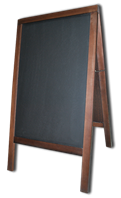 Штендер для мела деревянный S венге, сосна, 100 Х 60 см