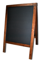 Штендер для мела деревянный S венге 95 Х 60 см