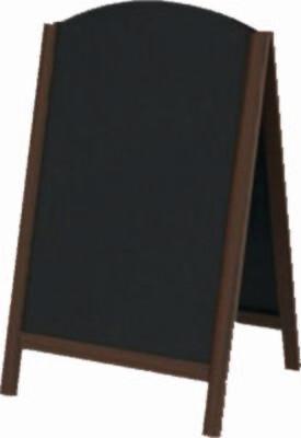 Штендер арочный для мела деревянный двусторонний