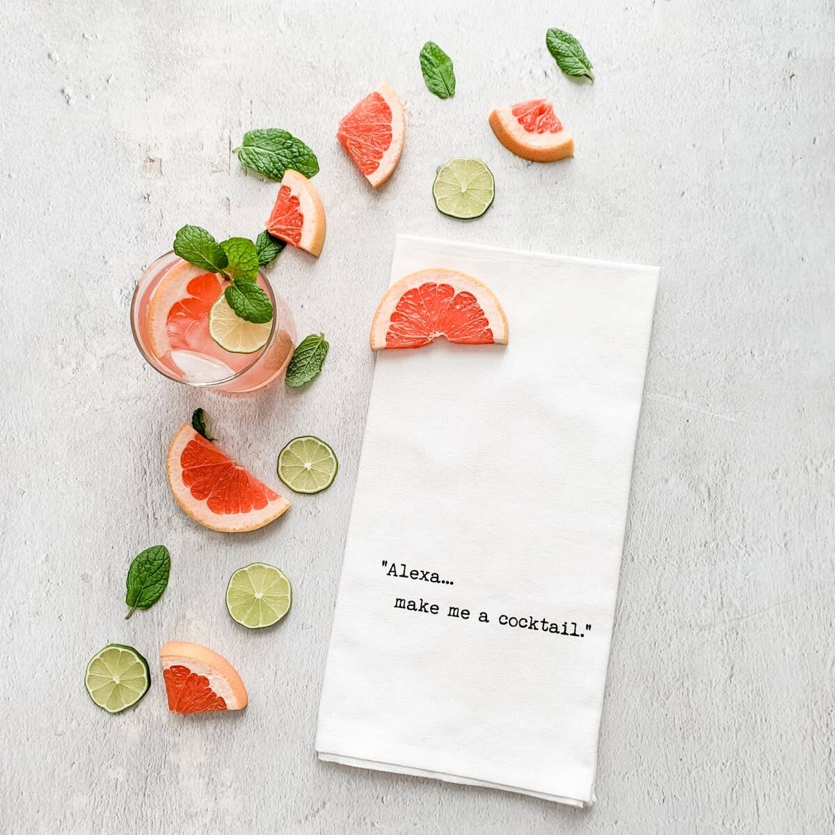 Alexa... Make Me A Cocktail - Tea Towel