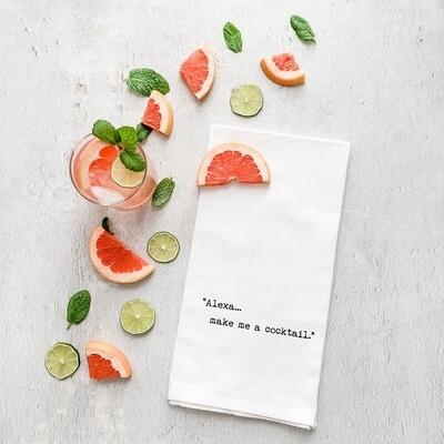 Alexa... Make Me A Cocktail - Tea Towel