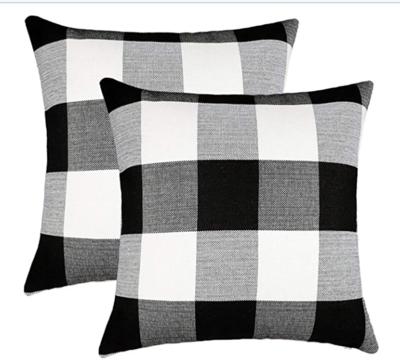 Buffalo Check Pillow (Black)