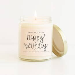 Happy Birthday Gift Candle