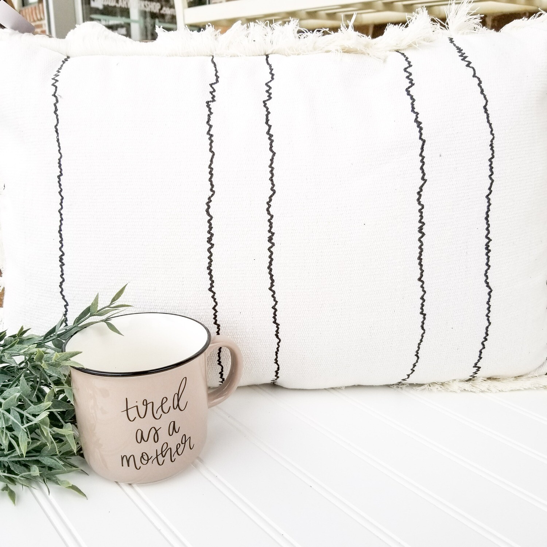 Woven Striped Pillow