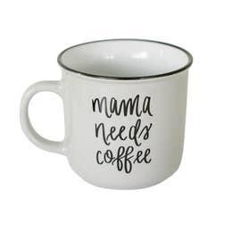 Mama Needs Coffee Campfire Mug