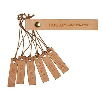 Wine Charms Holiday - Set Of 6