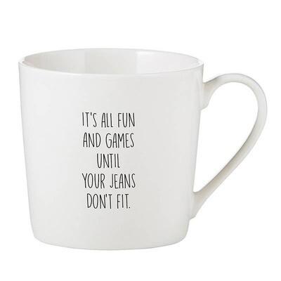 Cafe Mug - Jeans Don't Fit