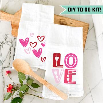Valentine's Tea Towel DIY Kit