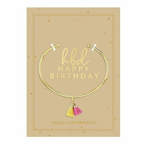 Happy Birthday Tassel Bracele