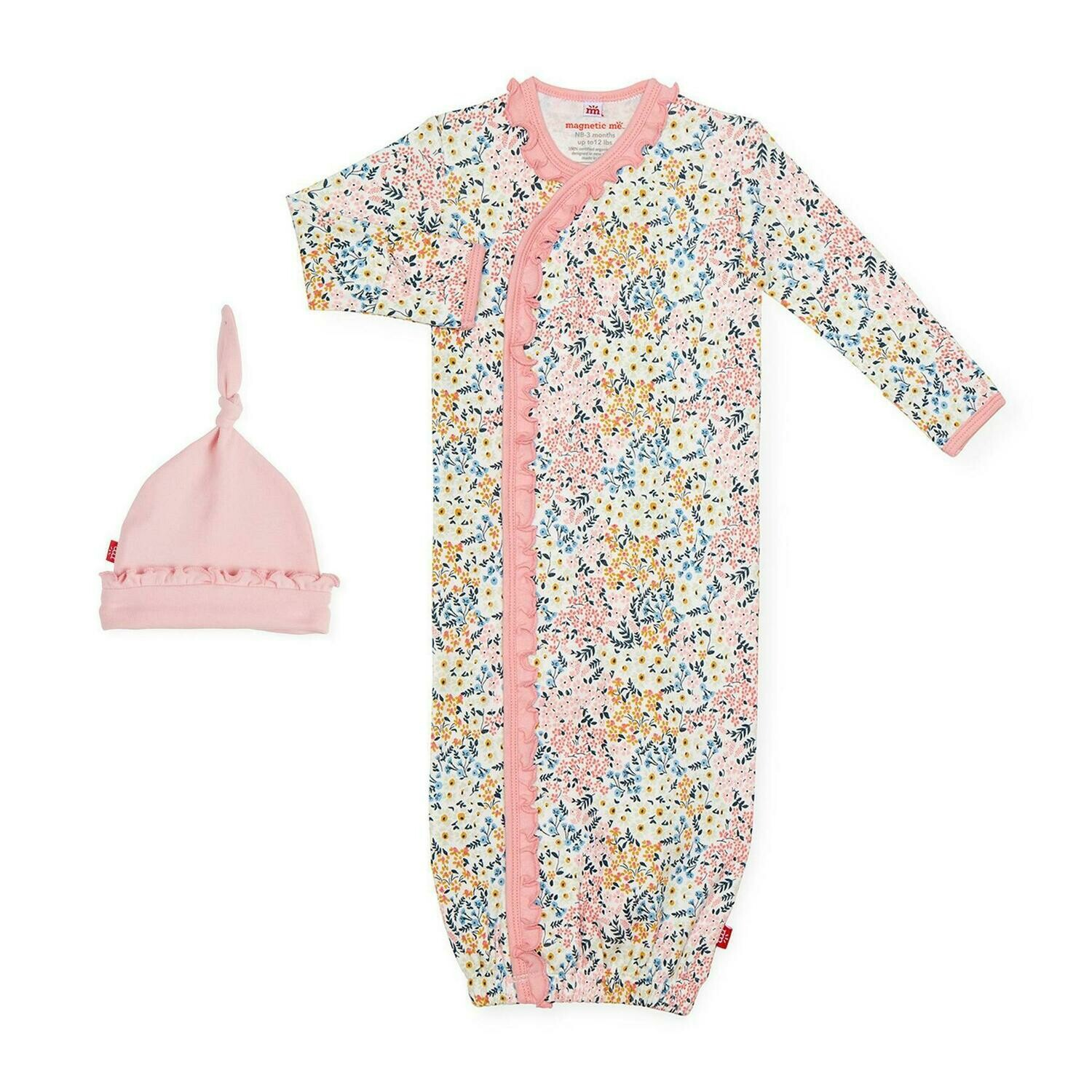 Chelsea Magnetic Gown + Hat (NB-3M)