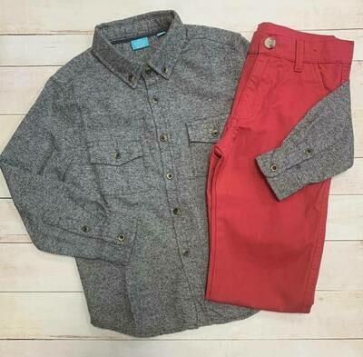 Button Down Woven Shirt