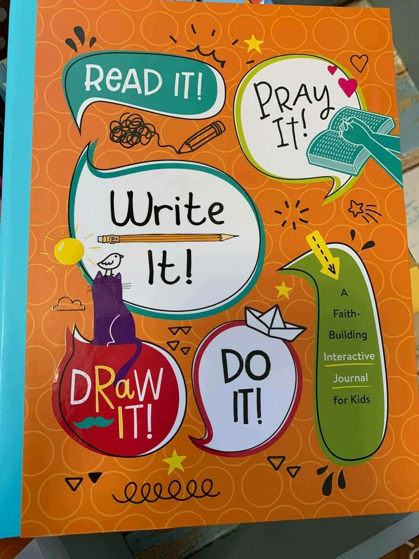 Read It Pray It Write It Draw It Inspiration Journal