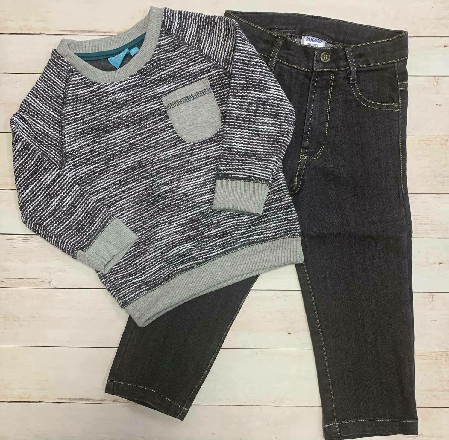 Charcoal Crew Top