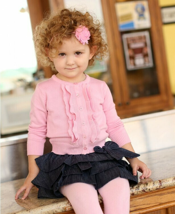Pink Ruffled Cardigan