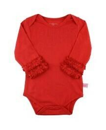 Red Ruffled Bodysuit Tee