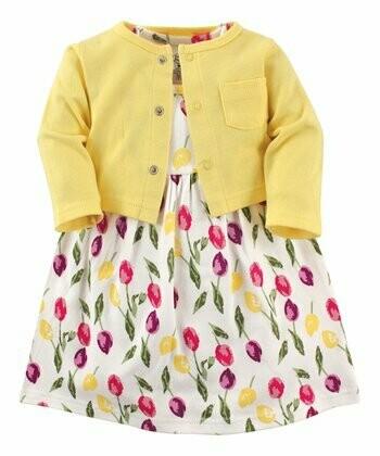 Tulip Dress with Cardigan