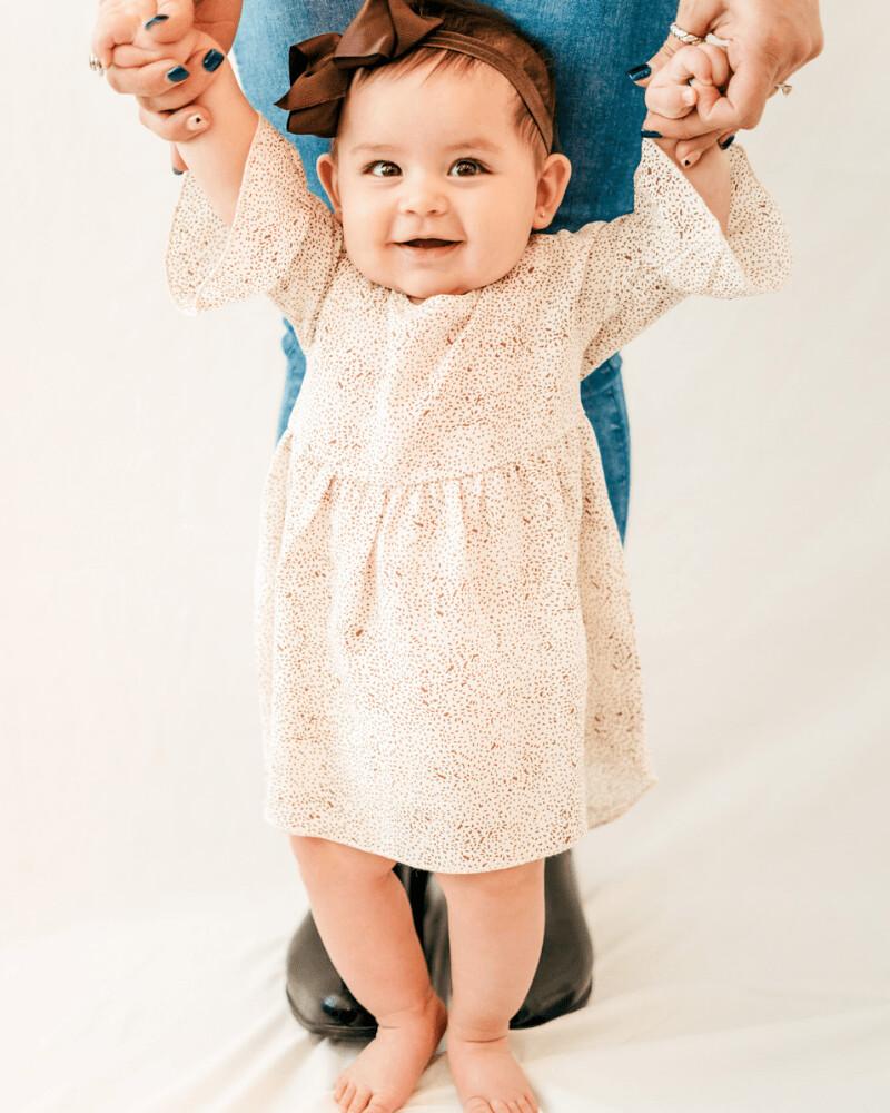 Ruffle Sleeve Hi-Lo dress