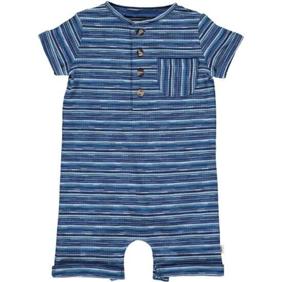 Blue/White Stripe Romper