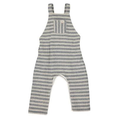 Grey Stripe Overalls 3-6M