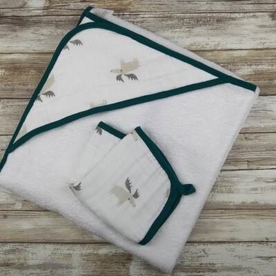 Mr. Moose Hooded Towel Set