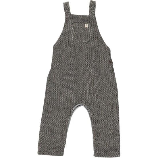 Blk Sweat Overalls-6-12M