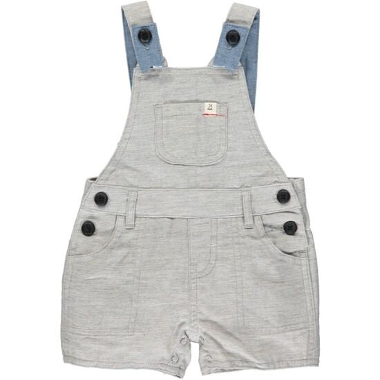 Bowline Shortie Overalls-Pale Grey