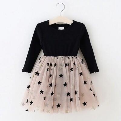Tiny Stars Black Tutu Dress