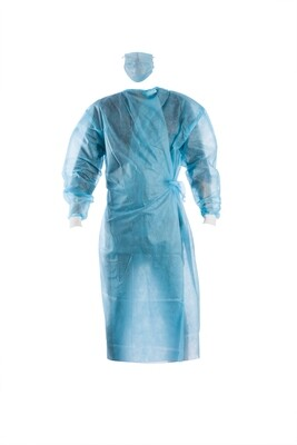 Disposable Gown Laminated Fabric Spun Bond (Pack of 10)