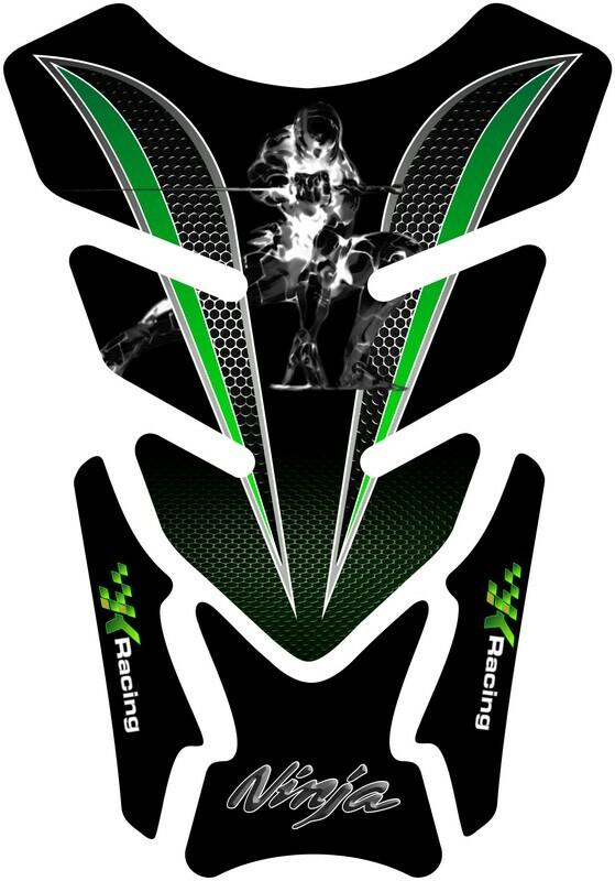 Kawasaki Ninja Green and White Tank Pad - Universal Fit