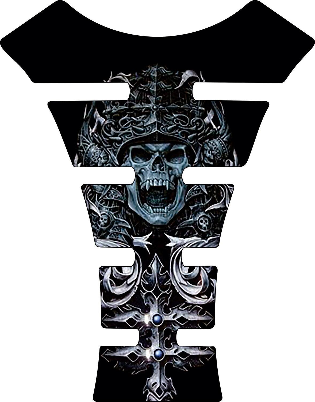 Motor Bike Tank Pad.  Mayan Skull. Universal Fit