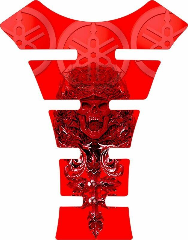 Yamaha Mayan Skull Tank Pad. Red Universal Fit