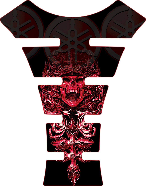 Yamaha Mayan Skull Tank Pad. Black Universal Fit