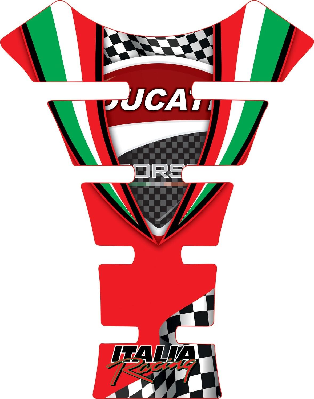 Motor Bike Tank Pad.  Ducati Red. Universal Fit