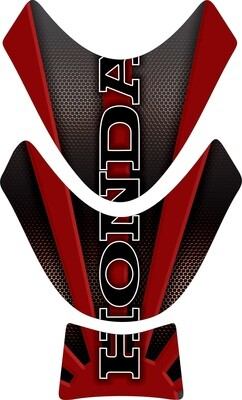 Motor Bike Tank Pad. Honda Black and Red. Universal Fit